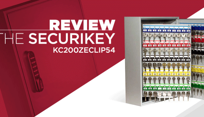 Review - Securikey KC200ZECLIP54 - Wall Mounted key Cabinet with 200 Hooks