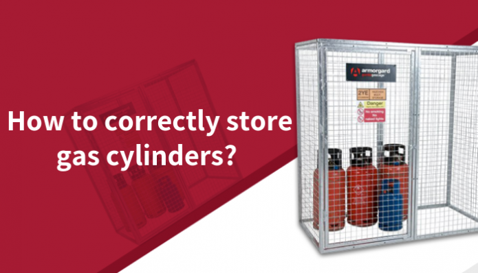 How to correctly store gas cylinders