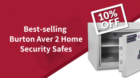Get 10% off our best-selling Burton Aver S2 home security safes