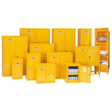 Bedford Yellow Flammable Cabinets