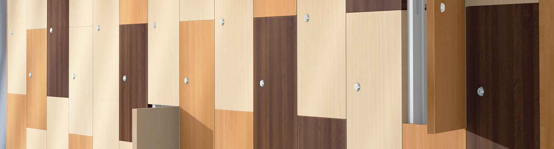 Woodgrain Laminate Door Lockers