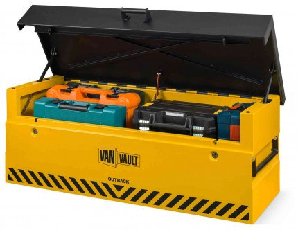 Van Vault Outback Tested Truck Security Storage Chest - lid open