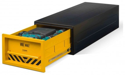 Van Vault Slider Tested and Certified Security Drawer Locking Van Box - drawer open