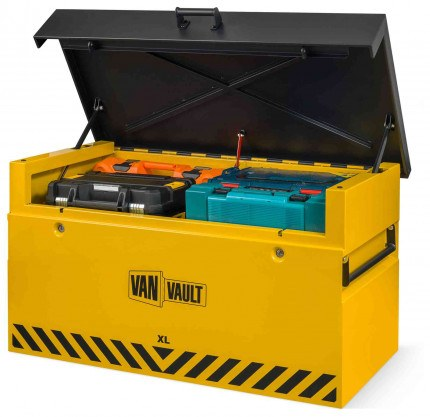 Van Vault XL:Large Van Security Tested Storage Chest - open