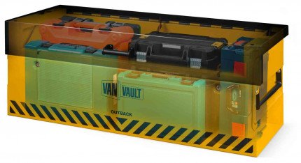 Van Vault Outback Tested Truck Security Storage Chest - x-ray image