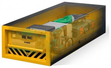 Van Vault Slider Tested and Certified Security Drawer Locking Van Box - x-ray view