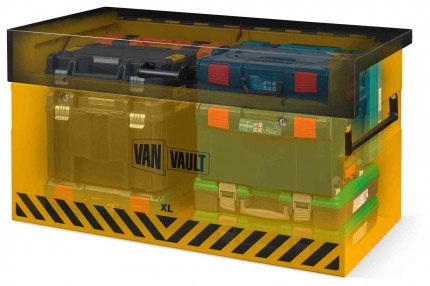 Van Vault XL:Large Van Security Tested Storage Chest - x-ray view