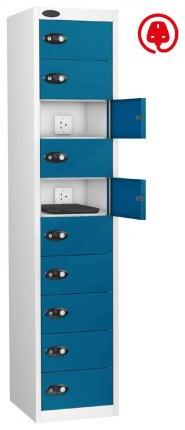 Laptop Charging Locker 10 Door - Probe Lapbox 10CHD - Blue
