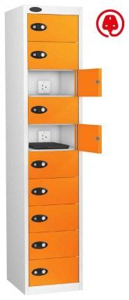 Laptop Charging Locker 10 Door - Probe Lapbox 10CHD - orange