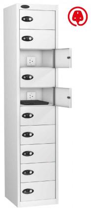 Laptop Charging Locker 10 Door - Probe Lapbox 10CHD - white