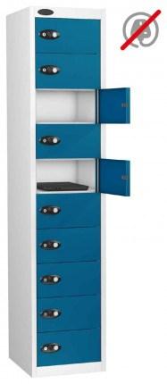 Probe Laptop Storage Locker 10 Doors 380x460 - blue doors open