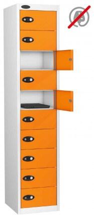 Probe Laptop Storage Locker 10 Doors 380x460 - Orange Doors