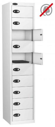 Probe Laptop Storage Locker 10 Doors 380x460 - white doors open