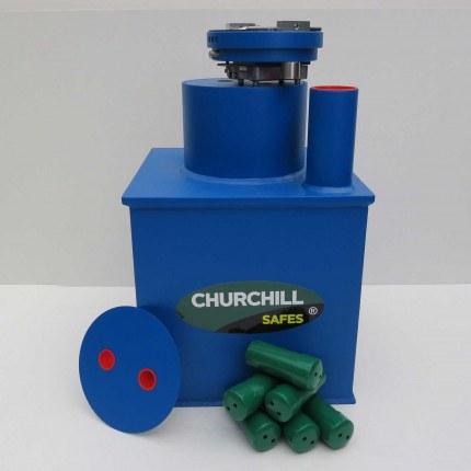 Churchill CS006 Round Door Silver Drop Floor Safe £6000
