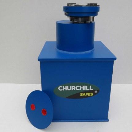 "Churchill CS005 12"" Round Door Silver Floor Safe £6000"