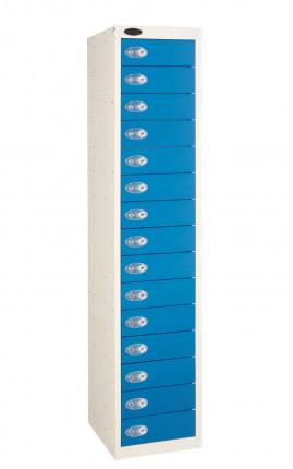 Probe 15 Blue Door Locker 1780x380x460mm with doors closed