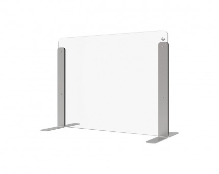 Vialux 150HGP Securit® Safety Glass Screen Divider 680mm visual