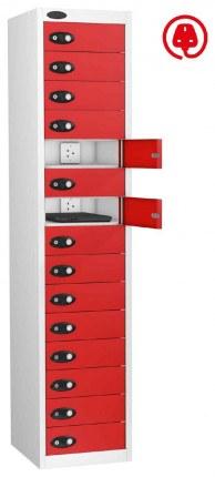 Probe Lapbox 15CHD Laptop Charging Locker 15 Door - red
