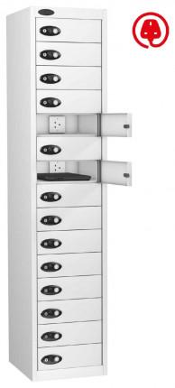 Probe Lapbox 15CHD Laptop Charging Locker 15 Door - white