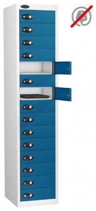 Laptop Storage Locker 15 Door - Probe Lapbox 15STD - Blue