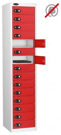 Laptop Storage Locker 15 Door - Probe Lapbox 15STD- red
