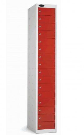 Probe 16 Door Personal Effects Electronic Locking Locker red doors closed