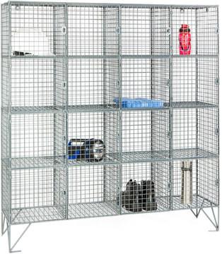 Robinson 16 Door Metal Wire Mesh 8mm Storage Locker
