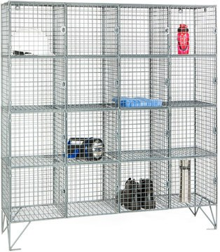 Robinson 16 Door Metal Wire Mesh 30cm deep 8mm Storage Locker