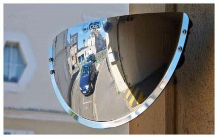Vialux Vumax 5000 Wide Angle Driveway Convex Mirror 44cm - on wall brackets
