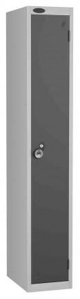 Probe 1 Door Combination Locking High Metal Locker Black