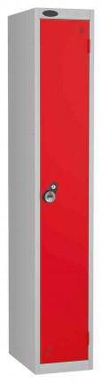 Probe 1 Door Combination Locking High Metal Locker Red