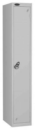 Probe 1 Door Combination Locking High Metal Locker Silver Grey