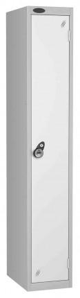 Probe 1 Door Combination Locking High Metal Locker White
