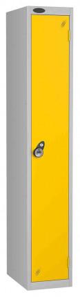 Probe 1 Door Combination Locking High Metal Locker Yellow