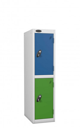 Probe 2 Door Low Locker 1210mm high 2 Tone doors and silver body
