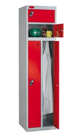 Probe Two Person Storage Locker 1780x460x460 red door open