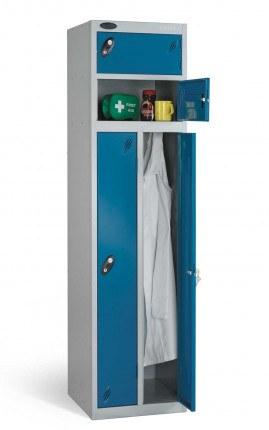 Probe Two Person Storage Combination Locking Locker 1780x460x460 blue door open