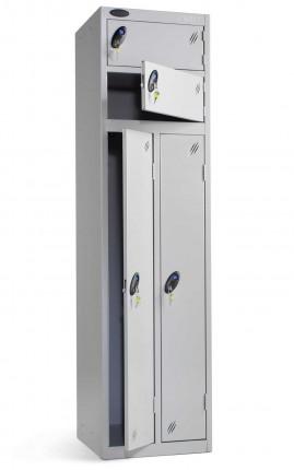 Probe Two Person Storage Combination Locking Locker 1780x460x460 silver door open