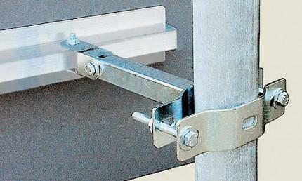 Vialux 807 Safety Industrial Observation Mirror wall bracket