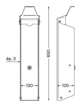 PRESSGEL™ Sanitiser Wall Fixed Hand Gel Dispenser Holder - Dimensions