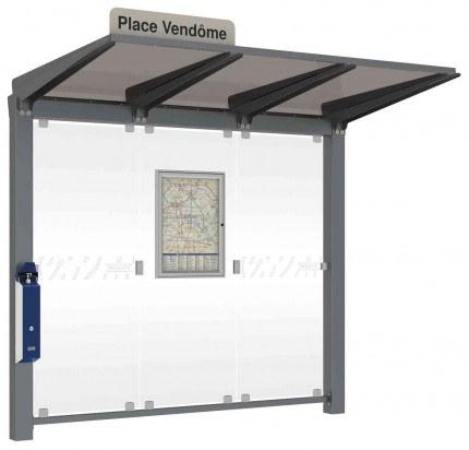 PRESSGEL™ Sanitiser Wall Fixed Hand Gel Dispenser Holder fitted to a Smoking Shelter