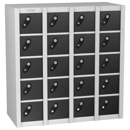 Probe MINIBOX 20 Door Electronic Locking Stacking Locker black