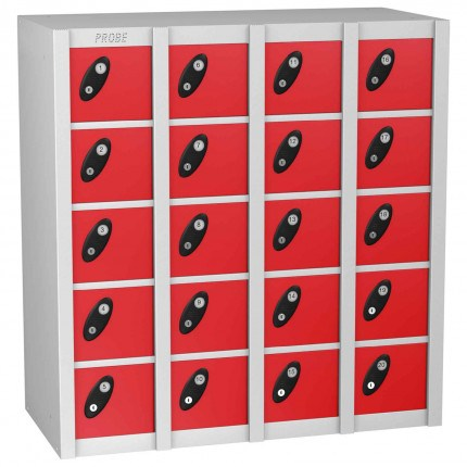Probe MINIBOX 20 Door Combination Locking Stacking Locker Red