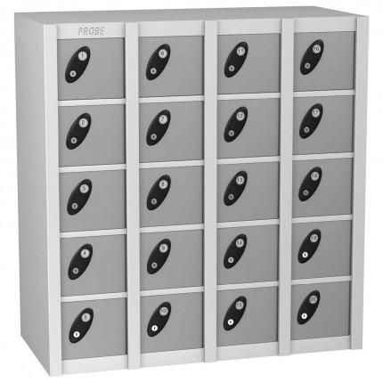 Probe MINIBOX 20 Door Electronic Locking Stacking Locker silver grey