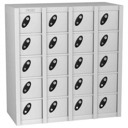 Probe MINIBOX 20 Door Key Locking Stacking Locker white