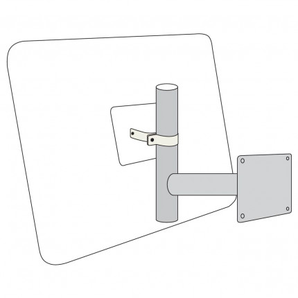 Horizontal Wall arm for View-Minder Traffic Mirror