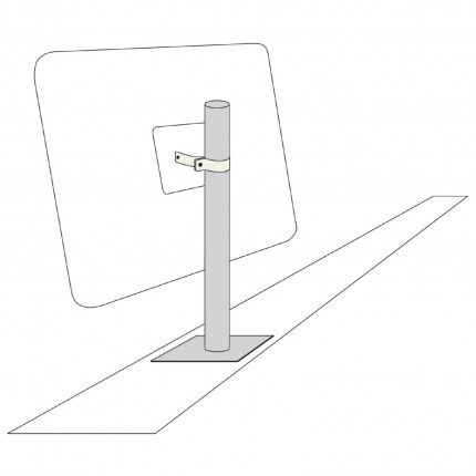 Vertical Wall arm for View-Minder Traffic Mirror