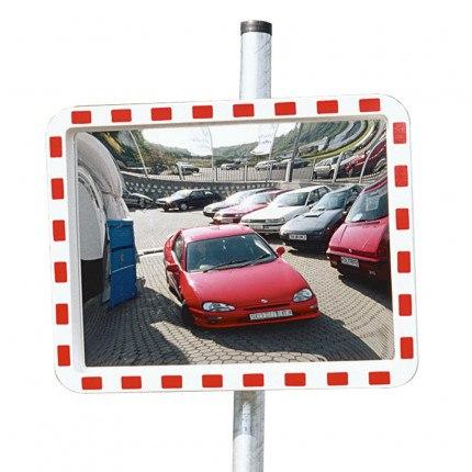 View-Minder 3 - 80x100cm Acrylic Post Mount Convex Traffic Mirror