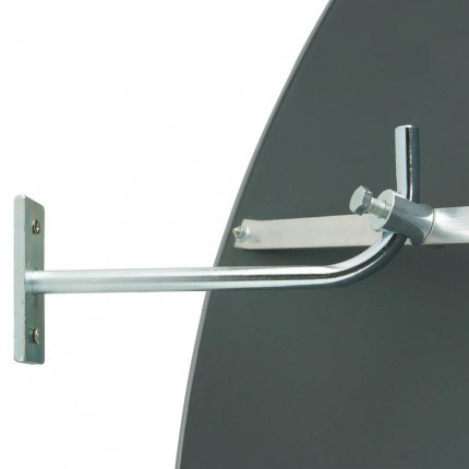 Adjustable arm on rear of Wide Angle Security Surveillance Wall Mirror  - Detective-X 60cm