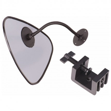Flexible Arm Clamp-on Blindspot Mirror - Detective 33cm showing bracket